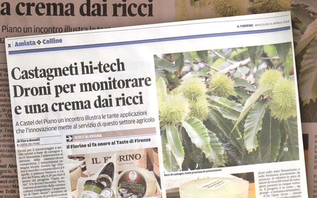 4 aprile 2018, Il Tirreno. Il progetto Open Riccio
